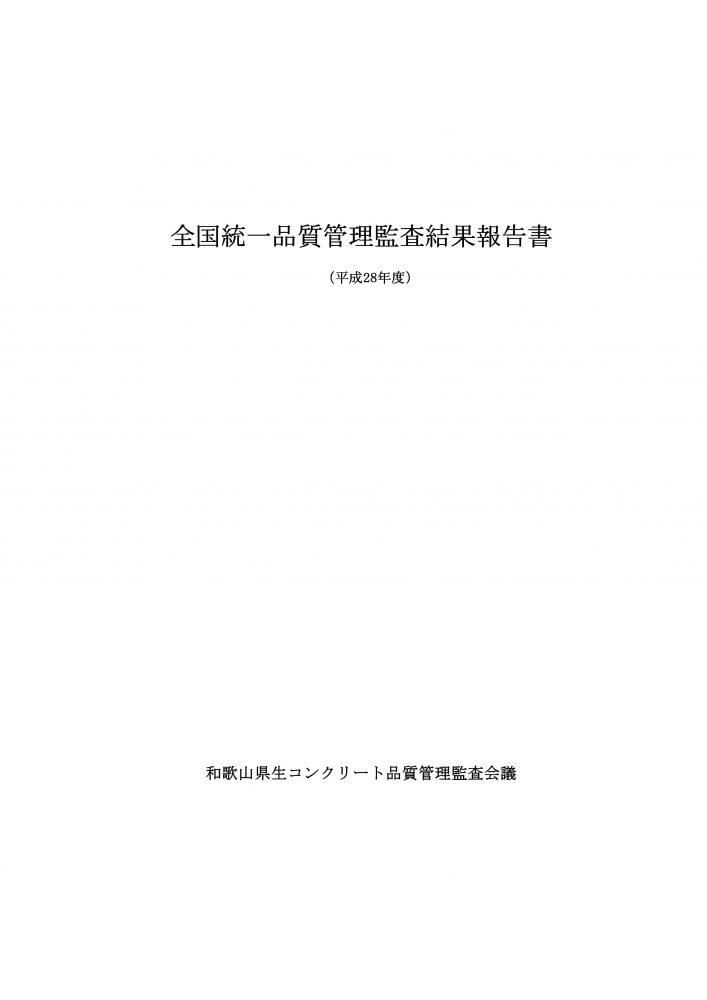 H28 統一監査結果報告(鏡)